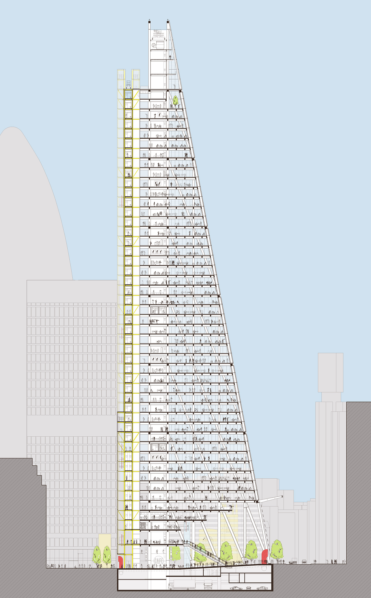 Cheese Grater Building Architectural Plans
