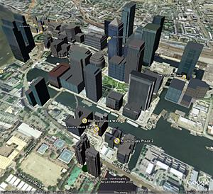 google earth canary wharf