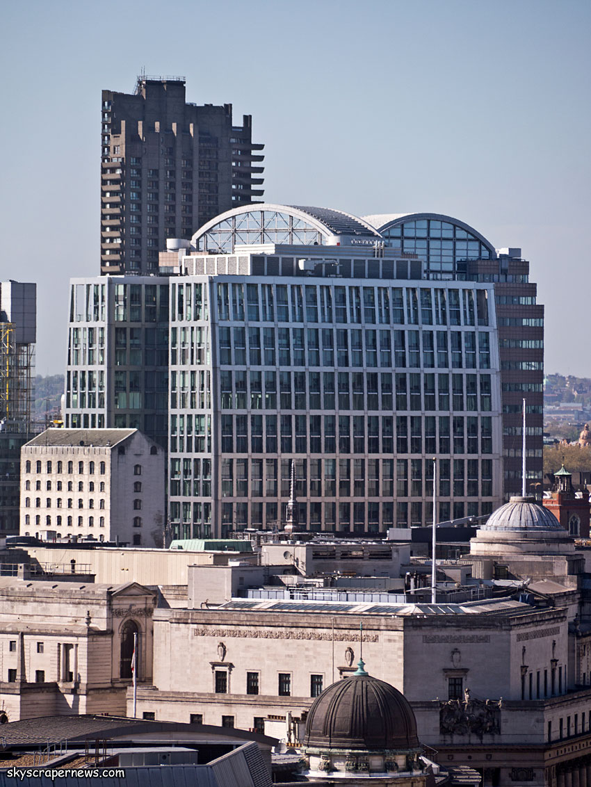 5 Aldermanbury Square, London, from the Monument