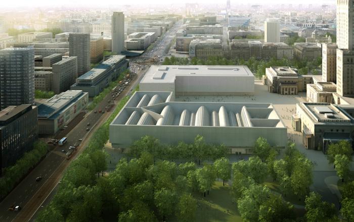 Warsaw Museum of Modern Art Finalised. Copyright Holder - City of