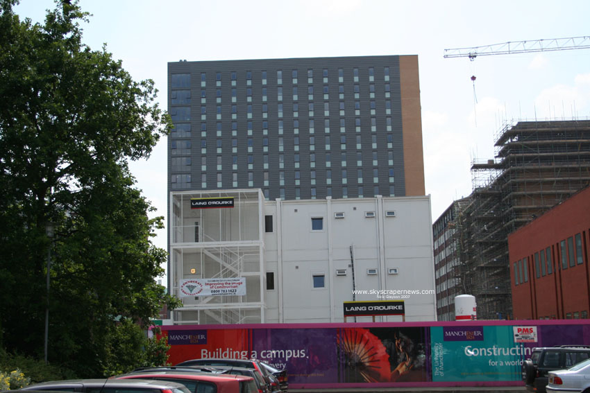 University Place Hall under construction summer 2007