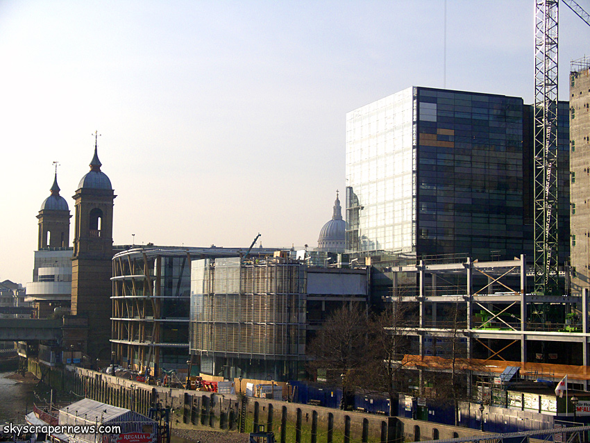 Watermark Place, under construction March 2009