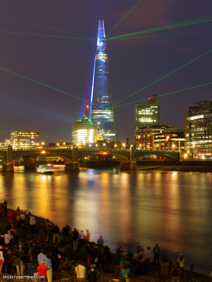 The Shard at opening