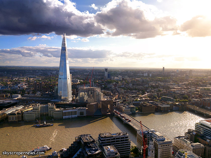 The Shard from the top of 20 Fenchurch Street