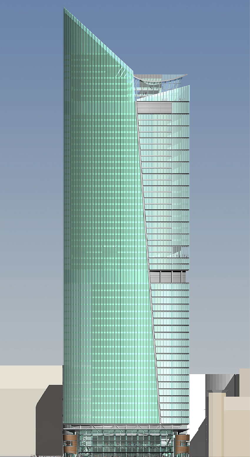 Homefront Tower Elevation : Skyscrapernews image library columbus tower