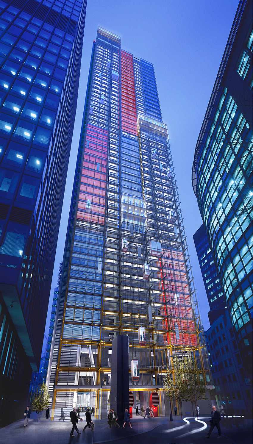 Night-time view from Undershaft