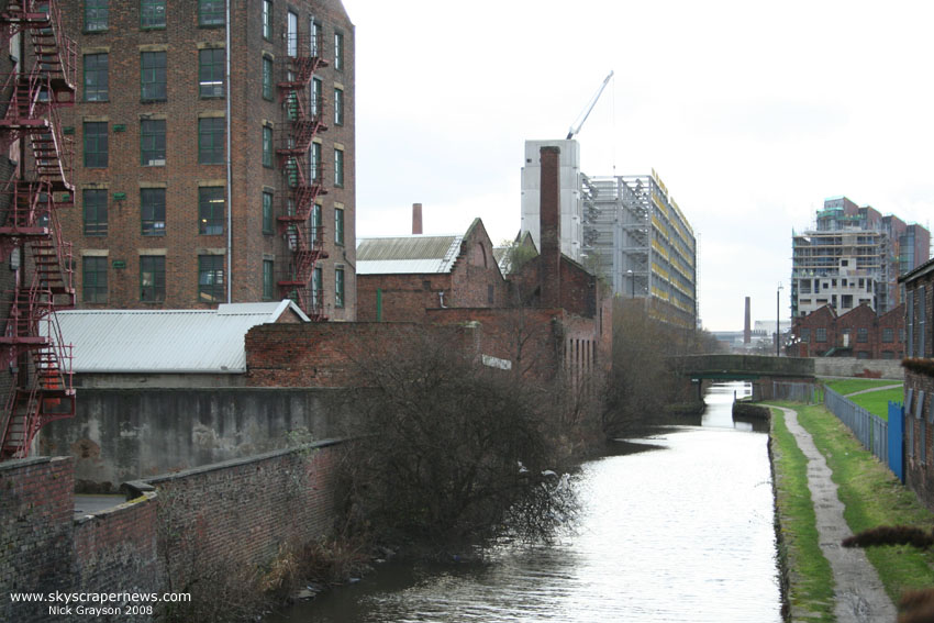 Ancoats Works Tower site (centre) 30/01/2008
