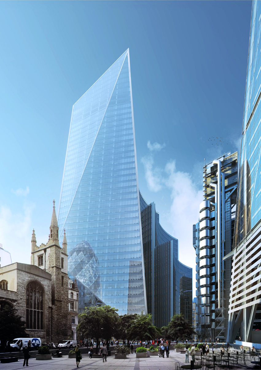 London 52 54 lime street 192m 630ft 39 fl u c for Architecture 54