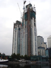 Pan Peninsula Towers, topped out - September 2007