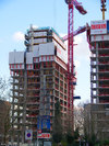 The Landmark East under construction April 2008