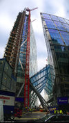 Broadgate Tower under construction, October 2007
