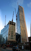 Broadgate Tower under construction, December 2007