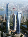 The Shanghai Tower and neighbours