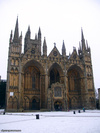 Peterborough Cathedral in the winter