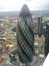The view of the Gherkin from the terrace
