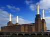 Battersea Power Station from a passing railway line
