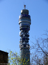 The partially stripped BT Tower
