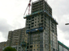 Cadogan Square under construction, September 2008