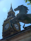 Big Ben and the statue of Boudicea