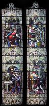 A stained glass window at The Boston Stump / St. Botolphs Church