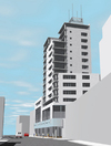 Render of residential tower on Westgate Road
