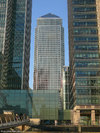 One Canada Square through Heron Quays