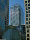One Canada Square from South Quay