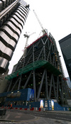122 Leadenhall Street under construction, 20/10/2012