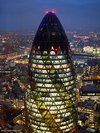 30 St Mary Axe at night