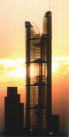 Architects model of the Millenium Tower