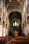 The nave of Hereford Cathedral